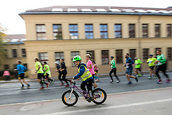 Athletes and cycler during 22nd Ljubljana Marathon 2017 on October 29, 2017 in Ljubljana, Slovenia. Photo by Matic Klansek Velej / Sportida