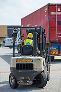 Forklift working on Cape Town Harbour