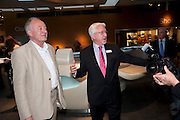 KEN LIVINGSTONE; MARTIN KAUFFMAN, The Galleries of Modern London launch party at the Museum of London on May 27, 2010 in London. <br /> -DO NOT ARCHIVE-© Copyright Photograph by Dafydd Jones. 248 Clapham Rd. London SW9 0PZ. Tel 0207 820 0771. www.dafjones.com.