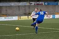 Cheryl Kilcoyne opens the scoring - Forfar Farmington v Glasgow Girls in the SWPL 2 at Station Park, Forfar, Photo: David Young<br /> <br />  - &copy; David Young - www.davidyoungphoto.co.uk - email: davidyoungphoto@gmail.com