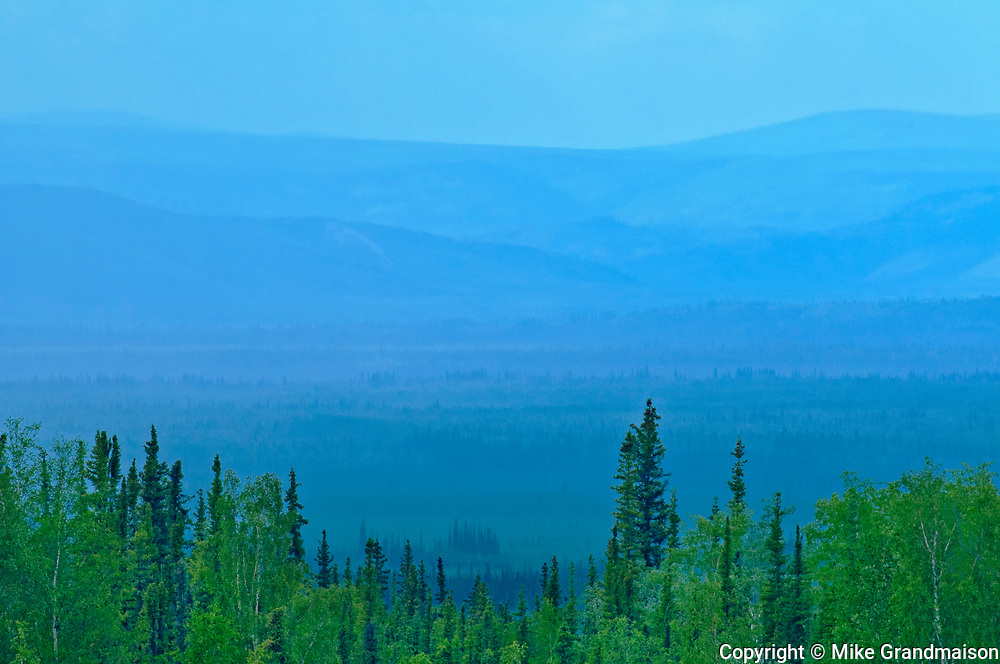 Ogilvie Mountains from Ogilvie Summit , Dempster HIghway, Yukon, Canada