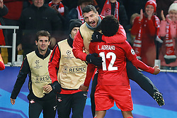October 18, 2017 - Moscow, Russia - October 17, 2017. Russia, Moscow, Otkritie Arena Stadium. Spartak's player Luiz Adriano in the 2017/18 UEFA Champions League's group stage match between Spartak (Moscow, Russia) and Sevilla FC  (Credit Image: © Russian Look via ZUMA Wire)