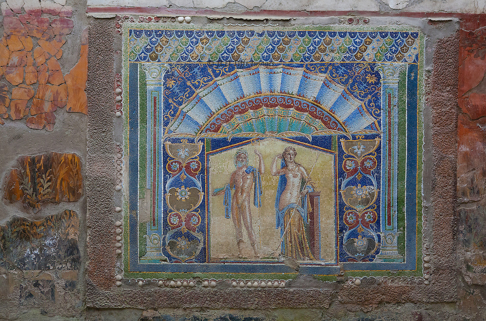 Herculaneum : garden mosaic in one of the houses