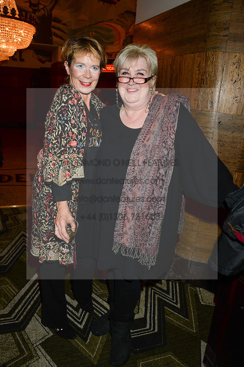 Left to right, CELIA IMRIE and DAME JENNI MURRAY at a first night of Celia Imrie's show Laughing Matters held at The Crazy Coqs, Brasserie Zedel, 20 Sherwood Street, Piccadilly, London on 17th September 2013.