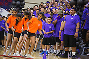 The Freshman class competes in the four-person plank walk race during the annual Trojan Olympics, where students compete in various unorthodox events for class bragging rights, at Milpitas High School in Milpitas, California, on March 27, 2015. (Stan Olszewski/SOSKIphoto)
