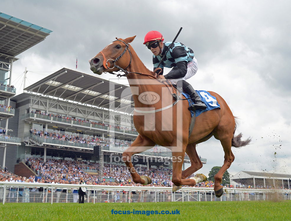 Full Day ridden by Ben Curtis (black with light blue check and red cap) wins Sky Bet Best Odds guaranteed Handicap stakes during the Sky Bet York Stakes meeting at York Racecourse, Yorkshire, UK.<br /> Picture by Martin Lynch/Focus Images Ltd 07501333150<br /> 23/07/2016