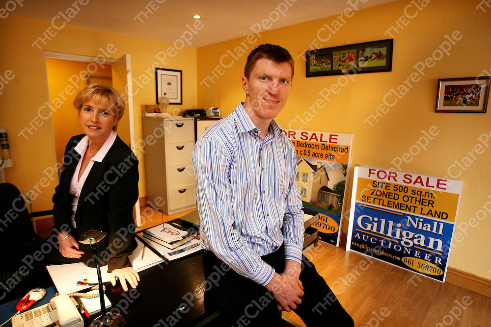 Christine Collins and Niall Gilligan at Niall Gilligan Auctioneers,Sixmilebridge.<br />