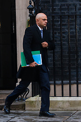 London, February 3rd 2015. Members of the cabinet gather at Downing Street for their weekly meeting. PICTURED: Sajid Javid, Secretary of State for Culture, Media and Sport.