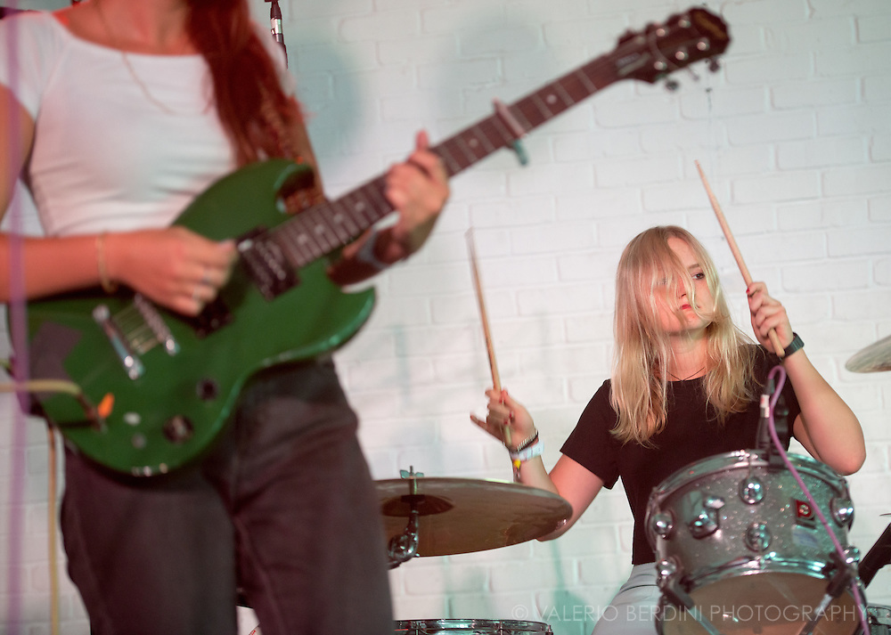 The Hinds, all girl Spanish band from Madrid live at the Oval Space  for Visions Festival 2015 in Hackney, London