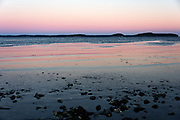 Winter sunset, Hulls Cove, Maine.