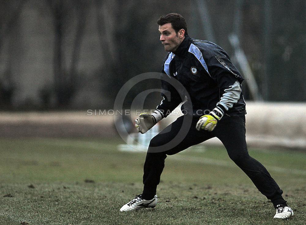 Udine 02 dicembre 2012.Primo allenamento dell'anno per l'Udinese..Nella foto: Daniele Padelli..© foto di Simone Ferraro