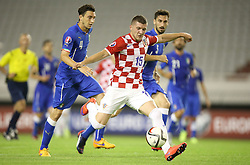 12.06.2015, Stadion Poljud, Split, CRO, UEFA Euro 2016 Qualifikation, Kroatien vs Italien, Gruppe H, im Bild Ante Rebic, Matteo Darmian // during the UEFA EURO 2016 qualifier group H match between Croatia and and Italy at the Stadion Poljud in Split, Croatia on 2015/06/12. EXPA Pictures © 2015, PhotoCredit: EXPA/ Pixsell/ Igor Kralj<br /> <br /> *****ATTENTION - for AUT, SLO, SUI, SWE, ITA, FRA only*****