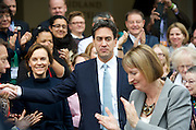 Labour Women's Conference<br /> at the Labour Party Conference, Manchester Central, Great Britain <br /> 20th September 2014 <br /> Rt Hon Ed Miliband MP<br /> Leader of the Labour Party <br /> Gloria De Piero MP<br /> Harriet Harman MP<br /> Angela Eagle MP<br /> Yvette Cooper MP<br /> Shadow Home Secretary <br /> speaking about Women's Safety Commission <br /> Ayesha Hazarika<br /> <br /> <br /> <br /> Photograph by Elliott Franks <br /> Image licensed to Elliott Franks Photography Services