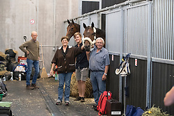 Fletch van't Verahof, Donckers Vic, Lea<br /> Departure of the horses to the Rio Olympics from Liege Airport - Liege 2016<br /> © Hippo Foto - Dirk Caremans<br /> 30/07/16