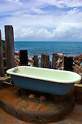 Seaside Bathroom on the balcony at Jakes Hotel - Treasure Beach Jamaica