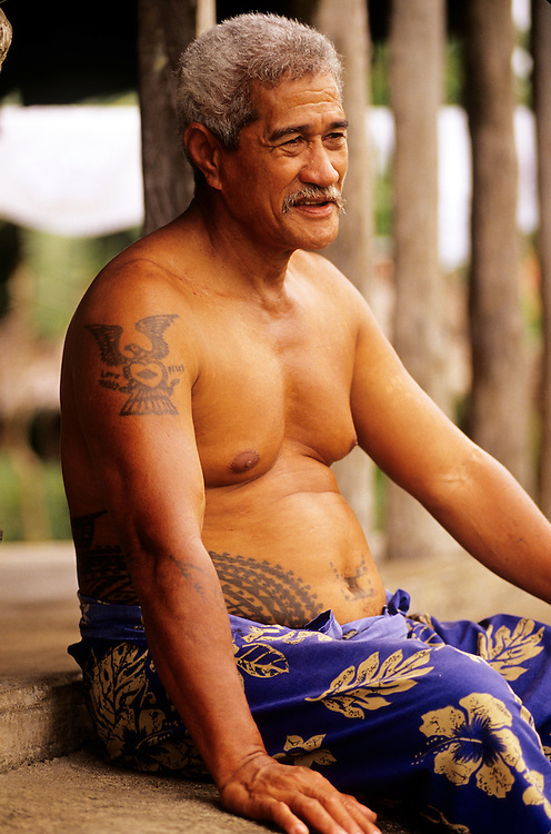 Western Samoa, Siumu Village villagers, Kirisimasi Utai