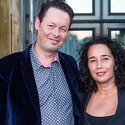NLD/Amsterdam/20130903 - Inloop premiere Stiletto 2, Carel Kraayenhof en partner Thirza Lourens