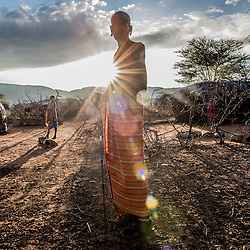 Villagers wake up before the sun comes up to take goats out for grazing in the Melako Conservancy in Northern Kenya. Melako is a vast expanse of arid bushland that stretches towards the Ethiopian and Somali border. Rainfall is rare, as are permanent settlements and solid infrastructure, yet the community have been grazing this rangeland for decades.