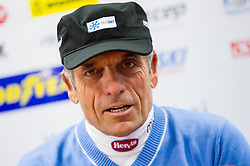 Coach Vlado Makuc  during press conference of Slovenian Ski Association - SZS after R. Perko placed second at ski downhill in Val Gardena (ITA), on December 18, 2012 in Ljubljana, Slovenia. (Photo By Vid Ponikvar / Sportida.com)