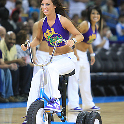 07 March 2009: A New Orleans Hornets Honeybees dancer performs for the crowd during a 108-90 win by the New Orleans Hornets over the Oklahoma City Thunder at the New Orleans Arena in New Orleans, Louisiana.