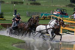 Brasseur Felix, (BEL), Amicello, Luxus Boy, Racciano, Sunfire<br /> Marathon Driving Competition<br /> European Championships - Aachen 2015<br /> © Hippo Foto - Dirk Caremans<br /> 22/08/15