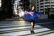 Sophie Pascoe walks to a photoshoot after being named New Zealand team flag bearer for the Gold Coast 2018 Commonwealth Games. Gold Coast 2018 Commonwealth Games, New Zealand Flag Bearer Announcement Ceremony, Gold Coast, Australia. 3 April 2018 © Copyright Photo: Anthony Au-Yeung / www.photosport.nz