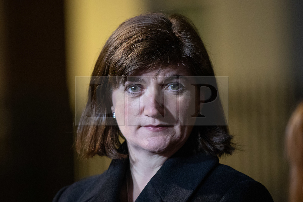 © Licensed to London News Pictures. 19/12/2018. London, UK. Nicky Morgan MP arrives in Downing Street and speaks to media. Photo credit : Tom Nicholson/LNP
