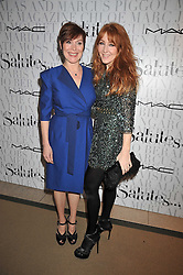 Left to right, SHARON DOWSETT and CHARLOTTE TILBURY at the MAC Salutes party paying tribute to renowned makeup artists held at The Hosptal, Endell Street, London on 22nd February 2009.