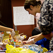 Hundreds of volunteers part of the &quot;Occupy Sandy&quot; relief effort are based out of the Church of St. Luke and St. Matthews in Clinton Hill, Brooklyn as they prepare food and donations to be shipped out to disaster areas devastated by Hurricane Sandy. Become a volunteer with &quot;Occupy Sandy&quot; HERE:<br />