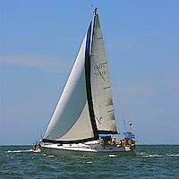 The sail boat participates in 2009 Regatta    of the coast of La Cruz.
