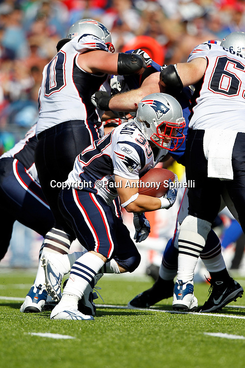 New England Patriots running back Danny Woodhead (39) runs the ball during the NFL week 3 football game against the Buffalo Bills on Sunday, September 25, 2011 in Orchard Park, New York. The Bills won the game 34-31. ©Paul Anthony Spinelli