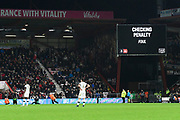 VAR checking a penalty decision during the The FA Cup match between Bournemouth and Luton Town at the Vitality Stadium, Bournemouth, England on 4 January 2020.