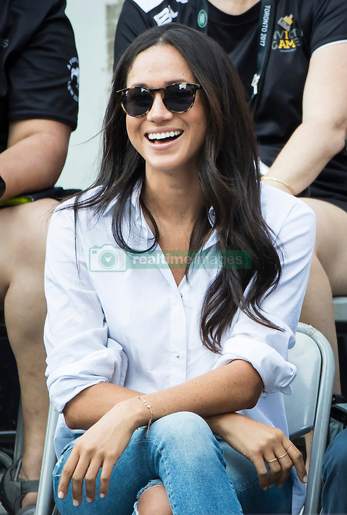 Meghan Markle watches a Wheelchair Tennis match at the 2017 Invictus Games in Toronto, Canada.