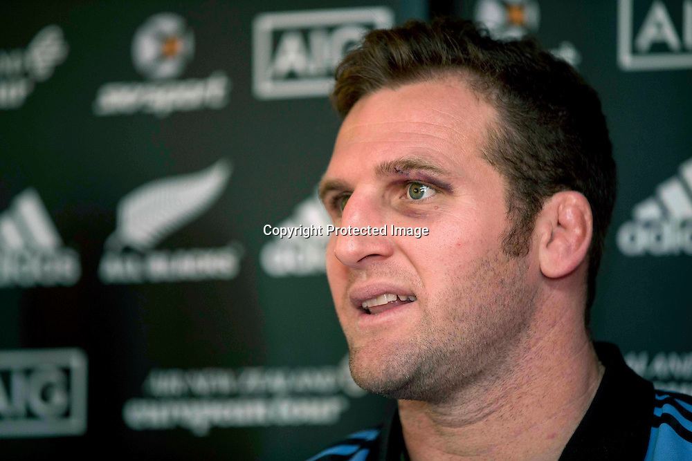 New Zealand All Blacks Press Conference, Castleknock Hotel and Country Club, Dublin 20/11/2013<br /> Kieran Read<br /> Mandatory Credit &copy;INPHO/Morgan Treacy