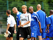 06-08-2008 Voetbal:Maikel Aerts:Bad-Schandau:Duitsland<br /> Willem II is in Oost Duitsland in Bad-Schandau voor een trainingskamp.<br /> Andries Jonker tijdens de training<br /> <br /> foto: Geert van Erven