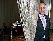 Restauranteur Ashok Bajaj poses for a portrait in his restaurant Bibiana in Washington, DC, September 16, 2009.