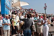 Venice, Italy, sept. 2009. Tourist guide at san marco square. Venezia, Piazza San Marco