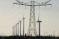 Nederland, Lelystad omgeving, 11 febr 2008.Windmolens.Windpark, windenergie.Foto (c) Michiel Wijnbergh