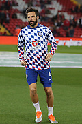 4 Cesc Fàbregas for Chelsea FC during the EFL Cup match between Liverpool and Chelsea at Anfield, Liverpool, England on 26 September 2018.