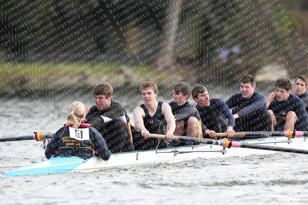 2012.02.25 Reading University Head 2012. The River Thames. Division 1. Southampton University Boat Club B IM3 8+
