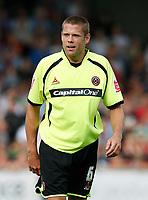 Photo: Steve Bond.<br /> Scunthorpe United v Sheffield United. Coca Cola Championship. 01/09/2007. James Beattie