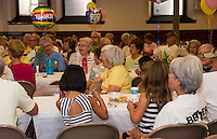 Volunteers gathered for an ice cream social following the completion of the 10 week Got Lunch Laconia program held at the Congregational Church on Monday afternoon.  (Karen Bobotas/for the Laconia Daily Sun)