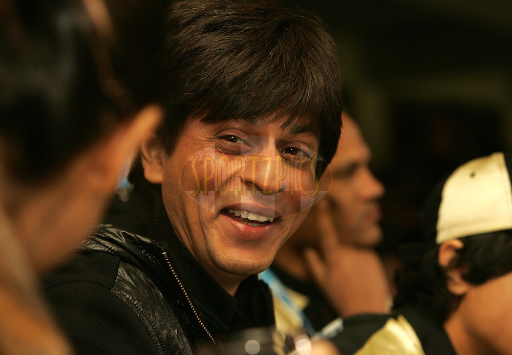 CAPE TOWN, SOUTH AFRICA - 19 April 2009. Shahrukh Khan during the  IPL Season 2 match between the Deccan Chargers and the  Kolkata knight Riders held at Sahara Park Newlands in Cape Town, South Africa..