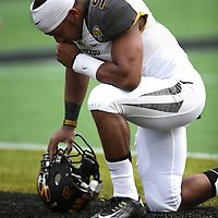 ORLANDO, FL - JANUARY 01:  Braylon Webb #9 of the Missouri Tigers takes a moment during the Buffalo Wild Wings Citrus Bowl between the Minnesota Golden Gophers and the Missouri Tigers at the Florida Citrus Bowl on January 1, 2015 in Orlando, Florida. (Photo by Alex Menendez/Getty Images) *** Local Caption *** Braylon Webb