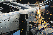 cutting up of a truck