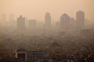 Air polluted skyline, Hanoi, Vietnam, Southeast Asia