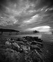 Evening clouds at Totland Pier, Isle of wight