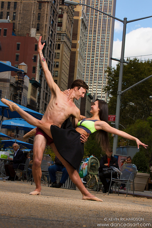 Ballerina & Dancer in Madison Square Park New York City Dance As Art Photography with Andy Jacobs and Sabrina Imamura