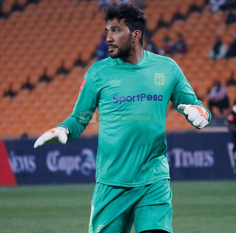 Cape Town City goalkeeper Shu-Aib in a match match between Orlando Pirates  and Cape Town City at  Fnb Stadium on Tuesday September 19, 2017.