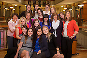 The executive board of Ohio Women in Business with the alumni that returned to speak at the event.   Photo by Ohio University / Jonathan Adams